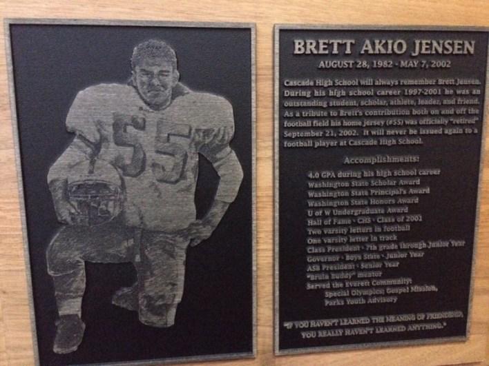 Brett plaque