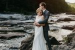 brown mountain beach wedding