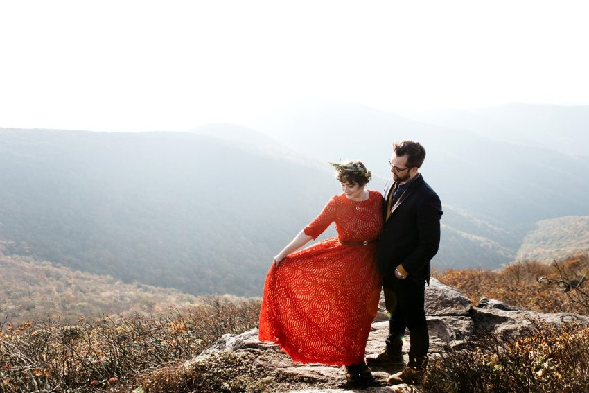 craggy gardens elopement kelly michael