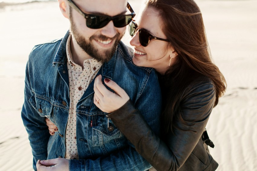 hipster outer banks engagement