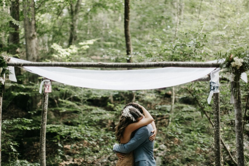 asheville mountain backyard wedding