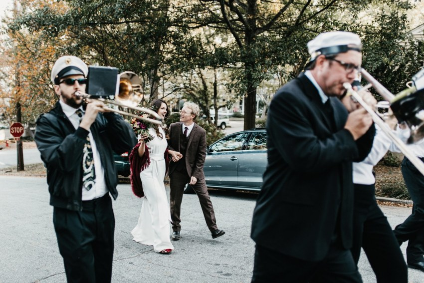 marching band wedding raleigh