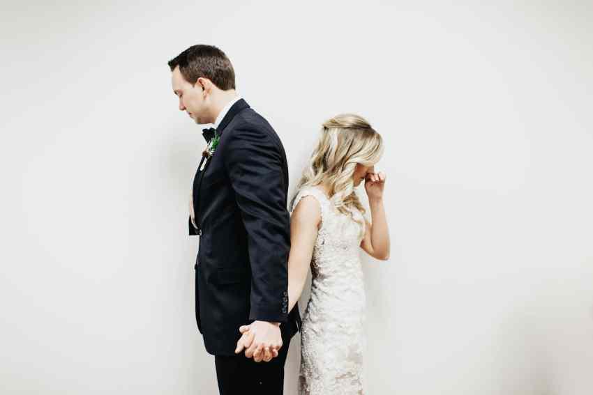 first touch wedding photos