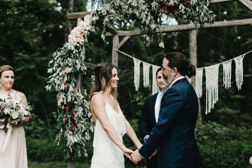 rock quarry farm wedding photos