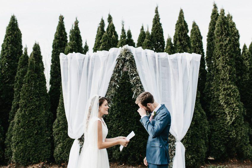 emotional groom boone wedding