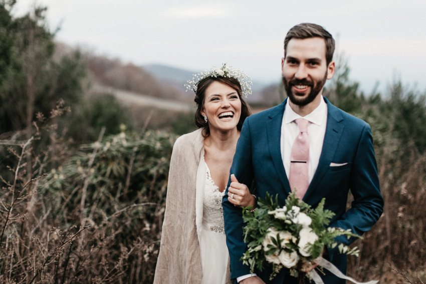 blue ridge parkway wedding photos