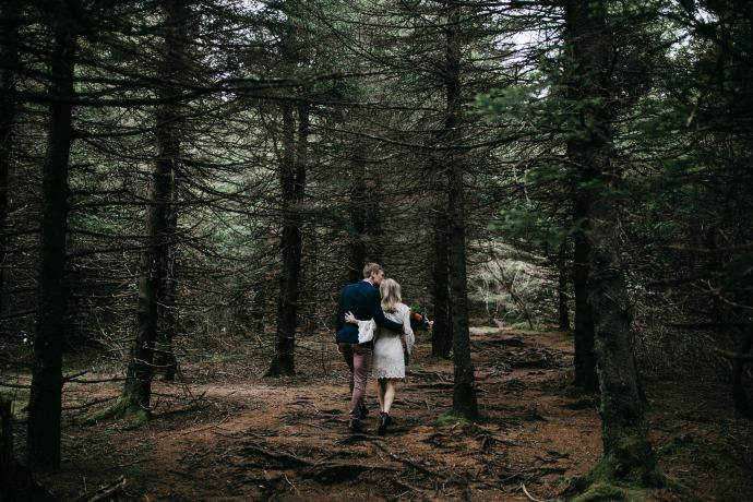 Appalachian trail asheville mountain elopement