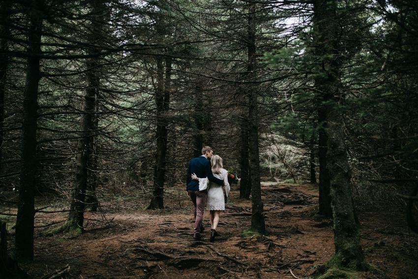 Appalachian trail asheville mountain elopement