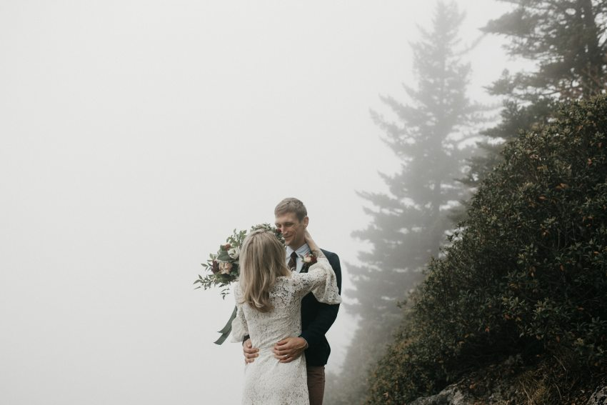 North Carolina mountain elopement