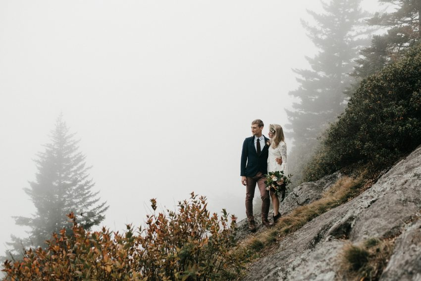 Pisgah national forest asheville mountain elopement