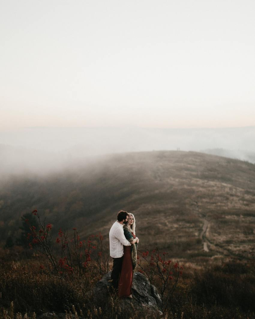 epic asheville mountain engagement