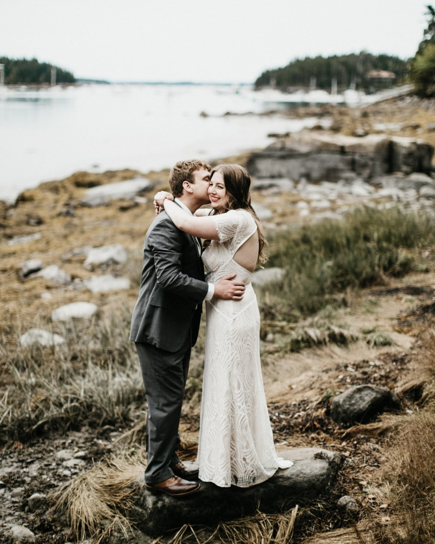 Acadia national park fall wedding