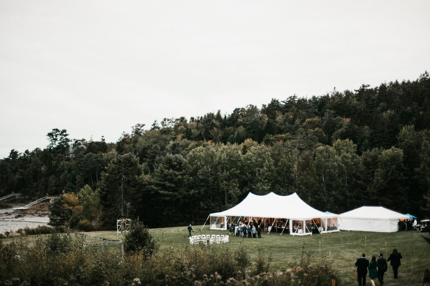 bar harbor maine outdoor wedding
