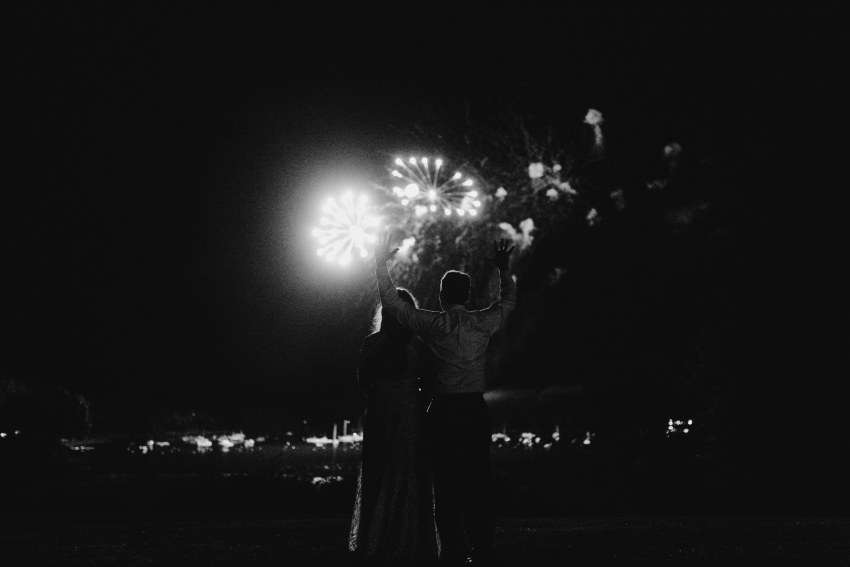 bar harbor maine wedding fireworks