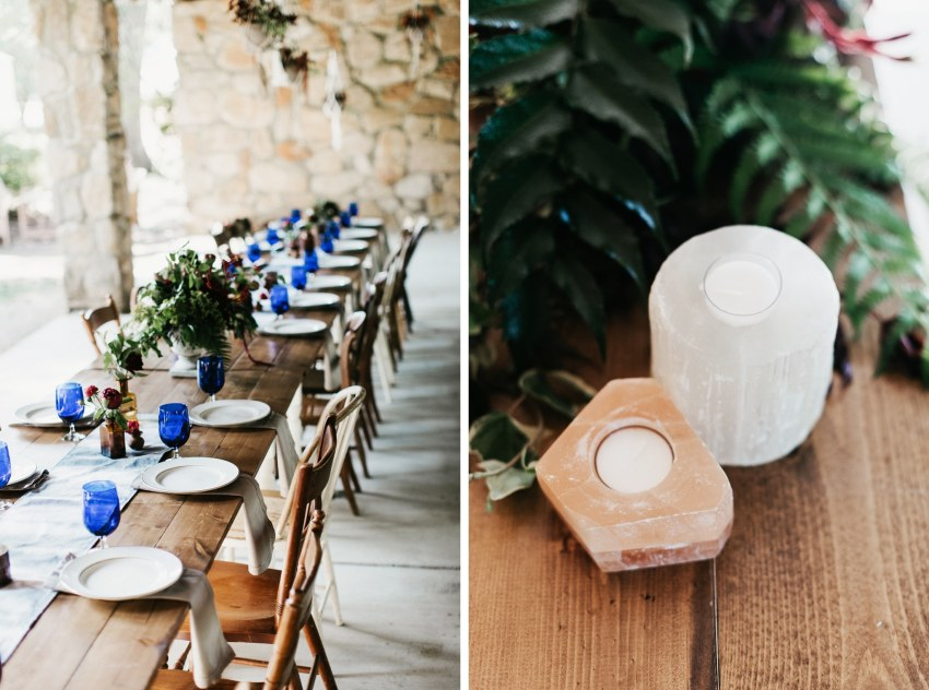 geometric modern chic wedding decor