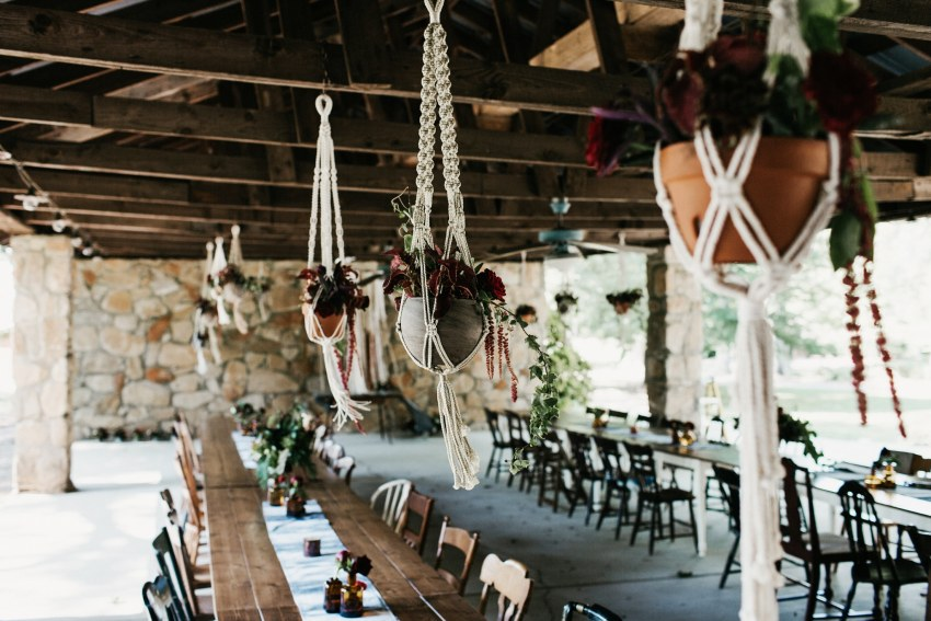 macrame planter wedding ideas