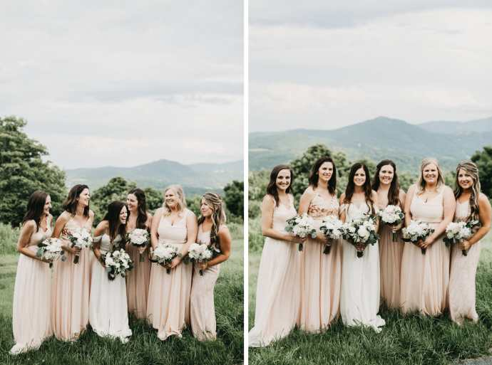 simple bridesmaids dresses