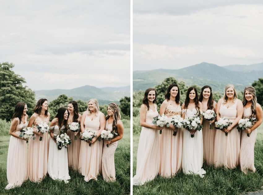 simple bridesmaids dresses