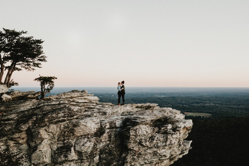 Brett & Jessica Photography | hanging rock state park engagement photos