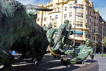 Monumento al Encierro by Rafael Huerta, Pamplona