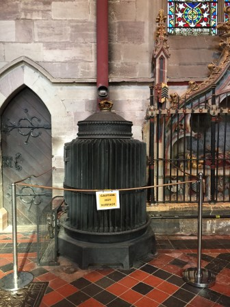 Amazing Victorian radiator, Hereford Cathedral