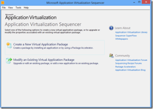 Select Create a new virtual package