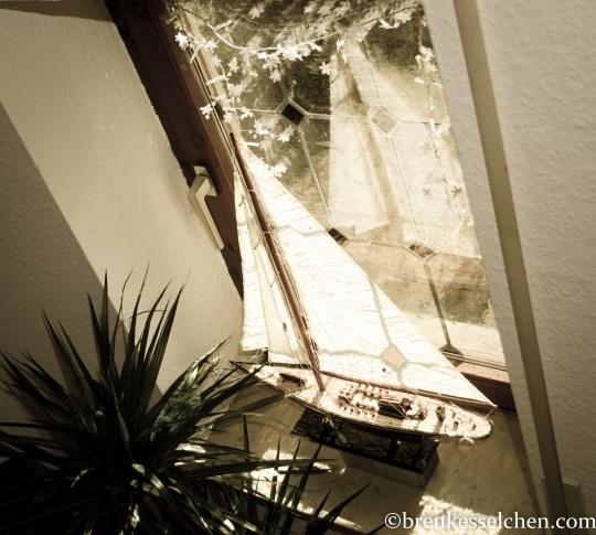 Treppenaufgang Deko mit Holzscheite (4)