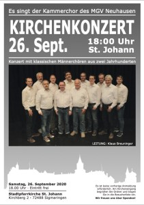 Feuchtes Eck - Kirchenkonzert in Sigmaringen @ Kath. Kirche St. Johann, Sigmaringen