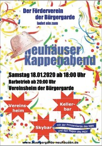 Neuhausen - Kappenabend @ Vereinsheim der Bürgergarde | Neuhausen | Baden-Württemberg | Deutschland
