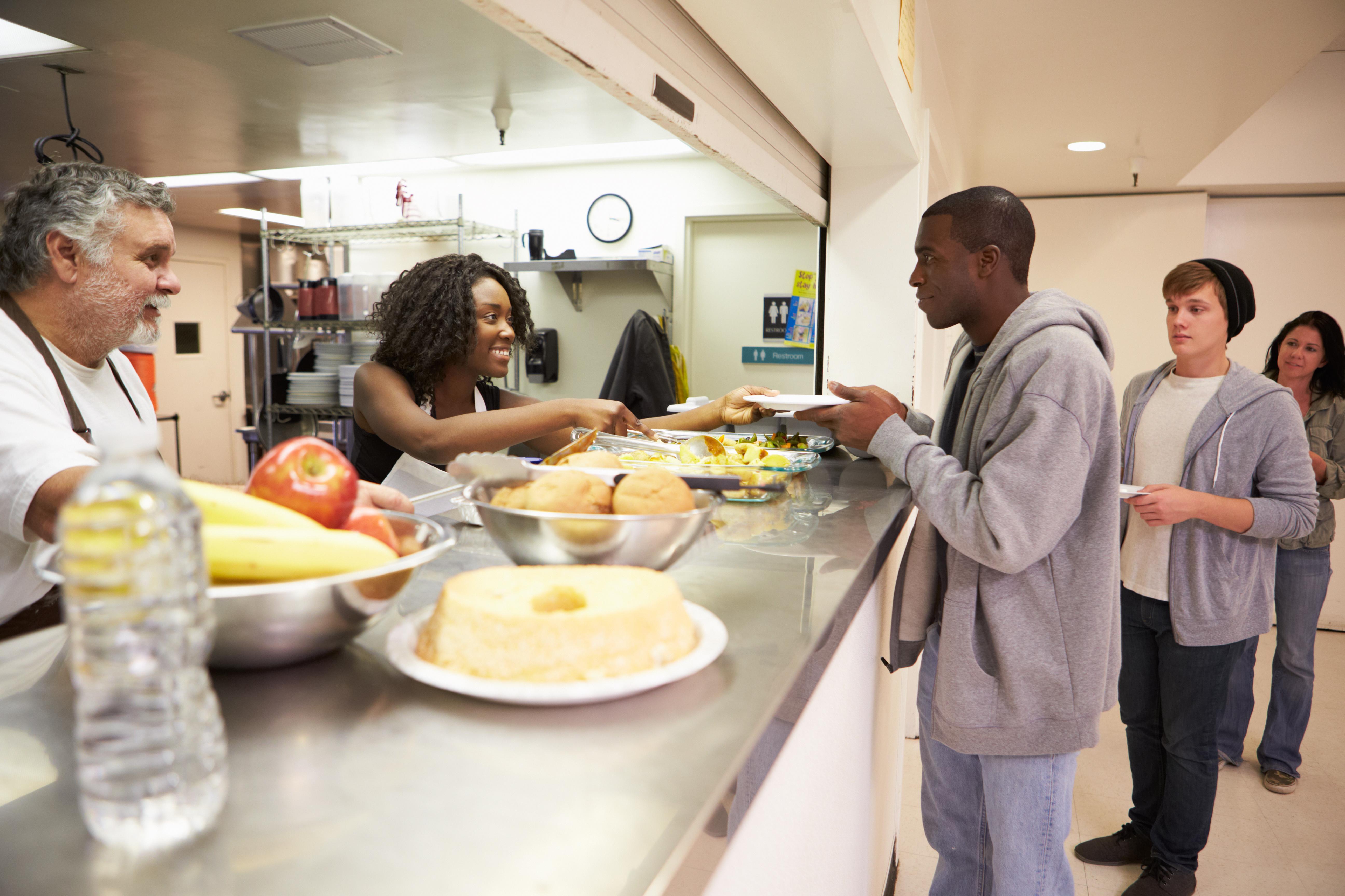 Soup kitchen, homeless shelter, volunteer