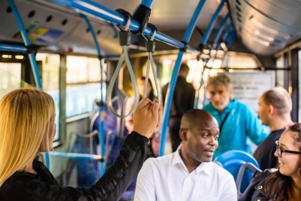 riding the bus, public transportation