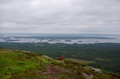 Blick vom Gesundaberg auf den Siljan und die Insel Sollerö.