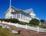 Peter Hjörns Haus, direkt gegenüber vom Strandverket
