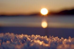 Kein Schnee, nur Frost.