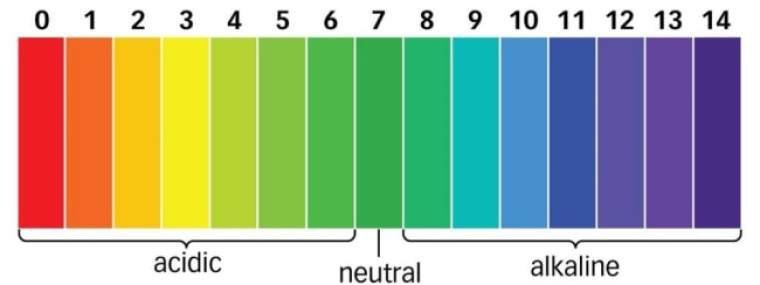 PH scale range from 0 to 14
