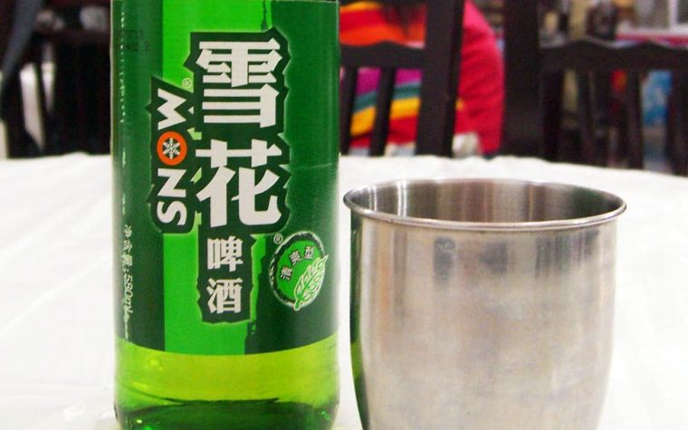 Bottle of Snow beer from China number one selling beer in the world.