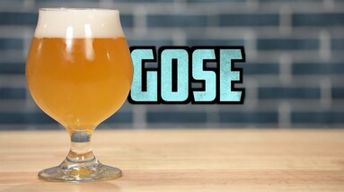 A glass of gose beer