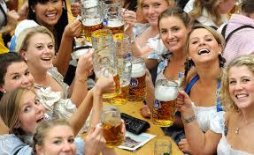 lederhosen_dirndls_Oktoberfest Brighton MI_Brewery Becker_stock image