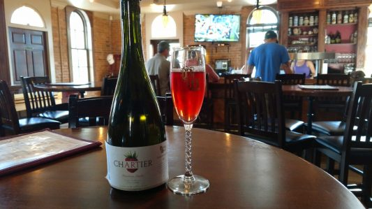 Chartier_framboise lambic_Brewery Becker barrel aged_bottled