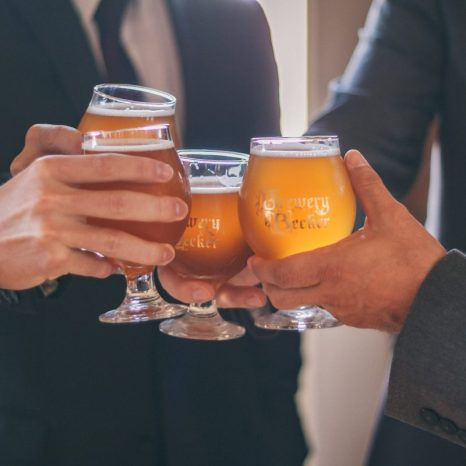 cheers craft beer hands up close Burton Wedding-109-3 Nick Rote event photography