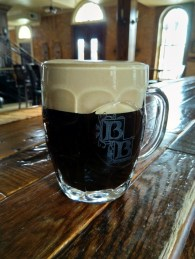Oatmalt Stout at Brewery Becker pictured. A historic remake of the beer originally brewed by Marclays in the 1890's.