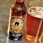A bottle of the Kentucky Bourbon beer.