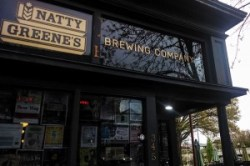 The front door to Natty Greene's Brewery.