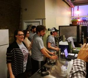 Jen Parker, Aaron McClain and the Crafty Bastard staff.