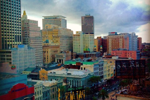 The buildings of downtown New Orleans