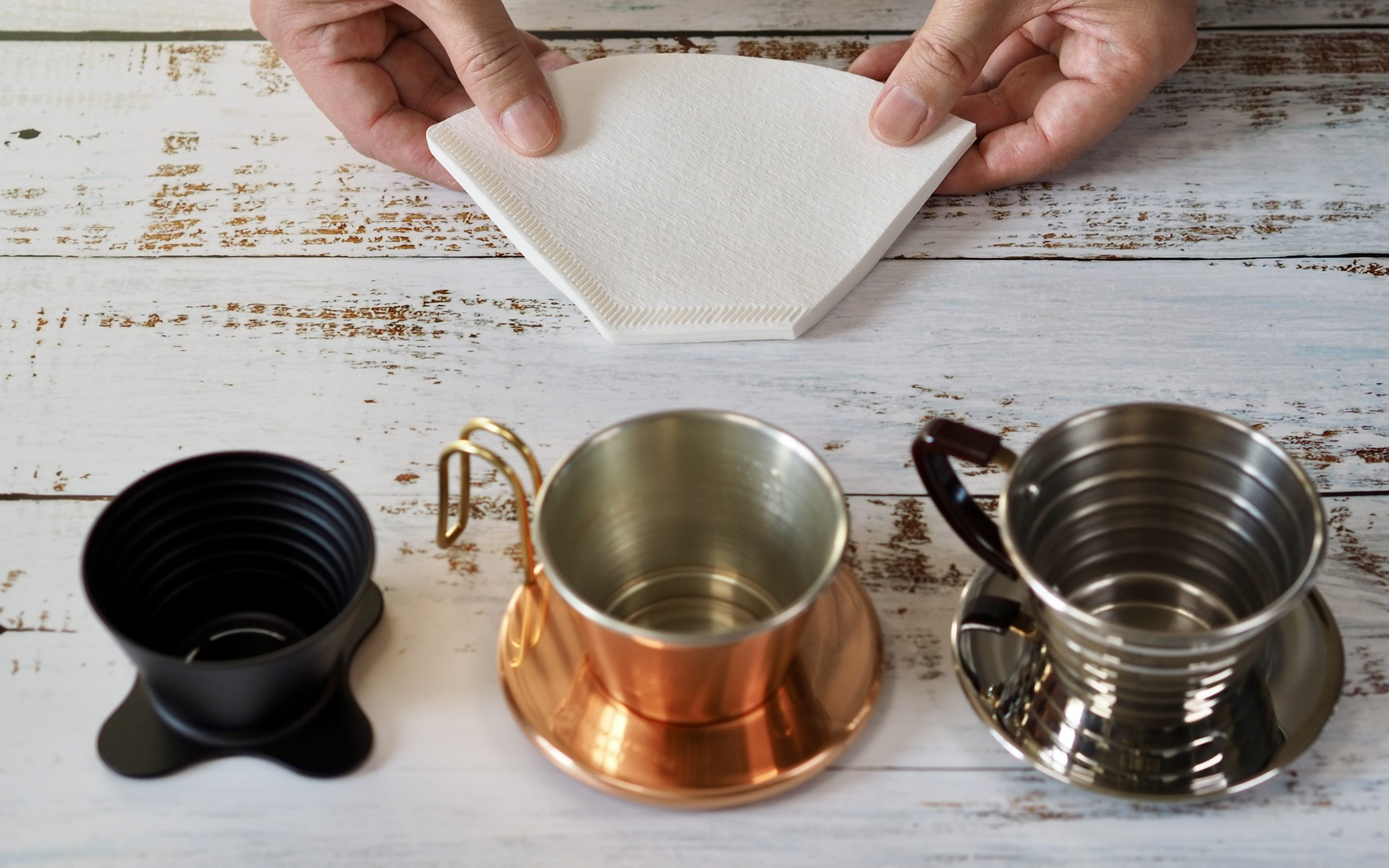 How to fit trapezoid filter to fit flat bottom drippers