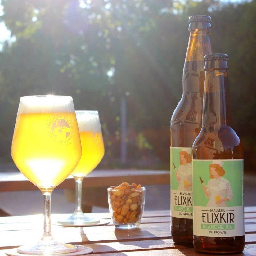 La délicieuse bière blanche de la brasserie Elixkir
