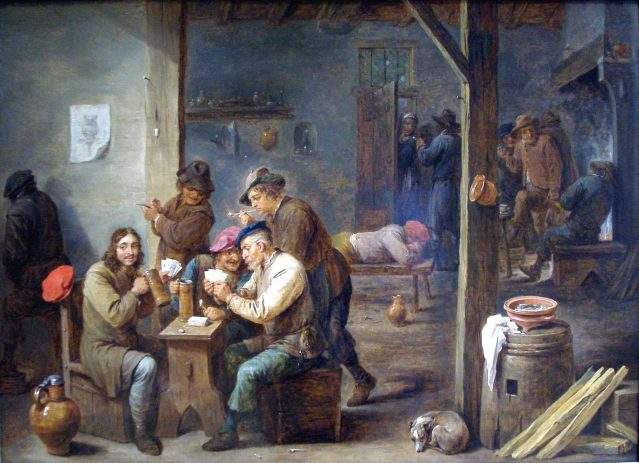 painting of a tavern
