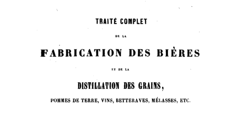 Complete treatise on beer making (in French)