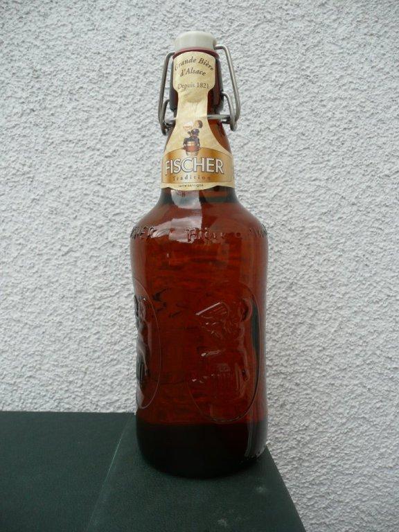 Bouteille de bière marque Fischer